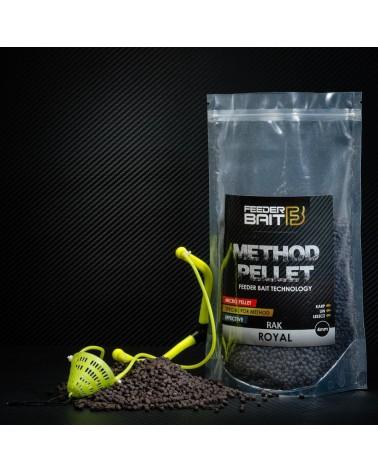 Pellet Feeder Bait Black Royal Rak 4mm 800g