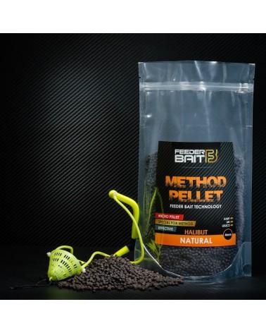 Pellet Feeder Bait Natural Halibut Black 4mm 800g