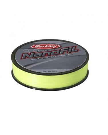 Plecionka Berkley Nanofil Hi-Vis Chartreuse 0,10mm 125m - zółta